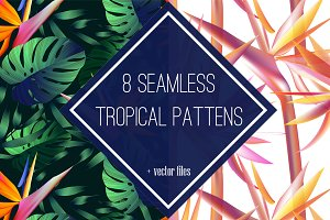 8 tropical seamless pattern.