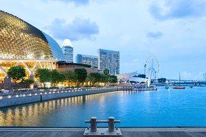evening Singapore skyline