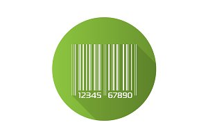 Barcode icon. Vector