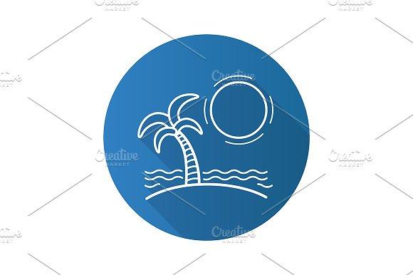 Tropical island. Vector - Icons