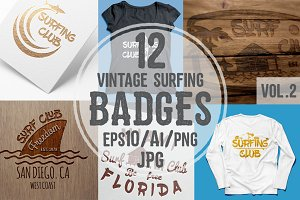 Vintage Surfing Badges