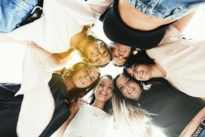 View of women friends