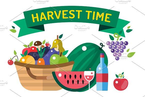 Thanksgiving day illustration vector