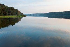 Autumn evening lake