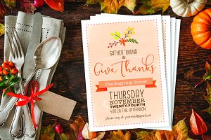 Thanksgiving Dinner Party Invite