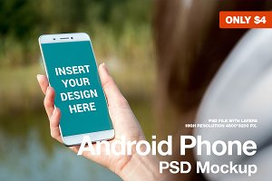 Android Phone - Lifestyle mockup