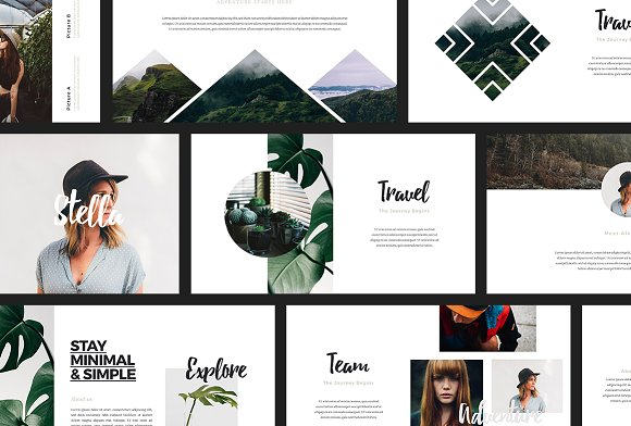 ascha powerpoint template presentation templates creative market