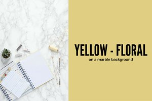 Yellow & Floral | Stock Image