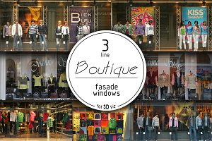 3 windows line of boutiques