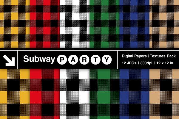 Multicolor Lumberjack Papers