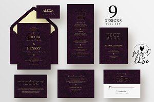 Wedding Invitation Suite - Sophia