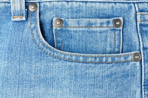 Pocket on jeans