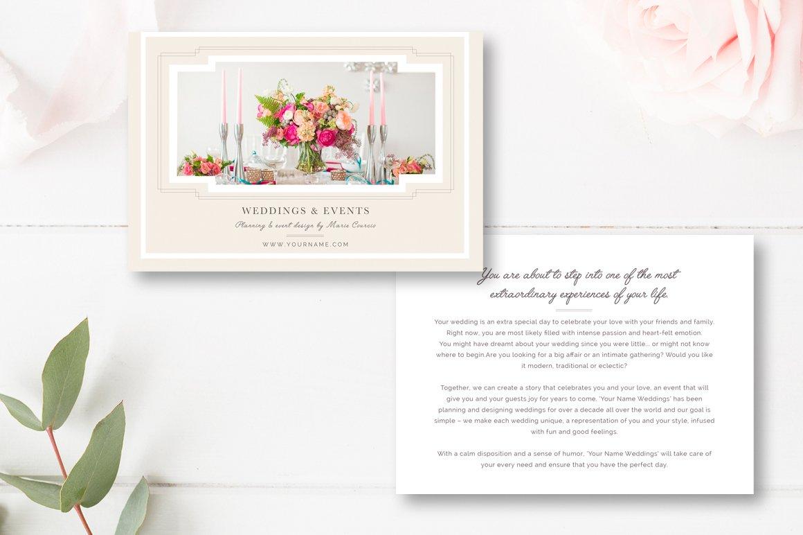 wedding brochure template - wedding event planner template flyer templates