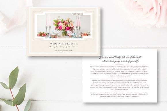 wedding event planner template flyer templates creative market