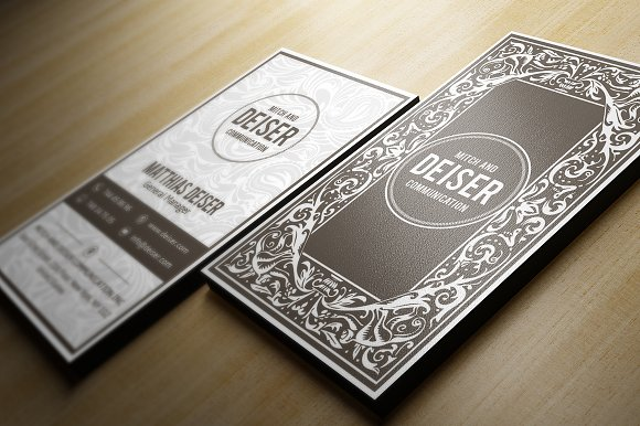 Elegant Business Card Business Card Templates Creative Market