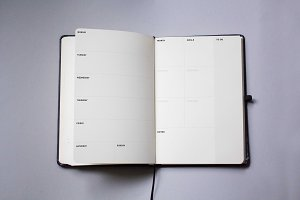 Notebook or book mockup