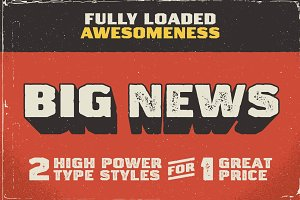 Big News I & II Font