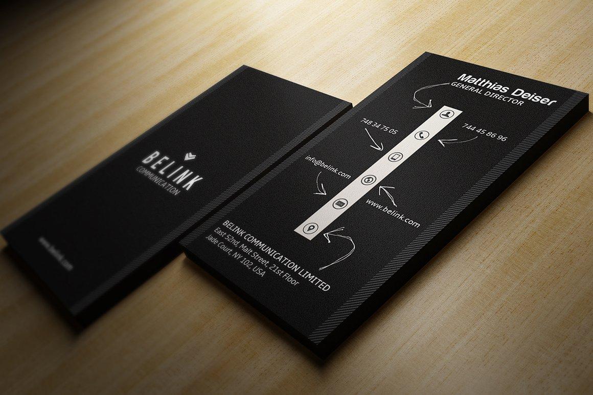 Creative Black Business Card Business Card Templates
