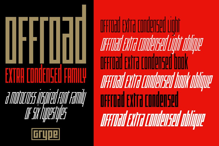 Offroad Extra Condensed Family