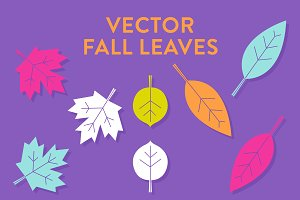 Vector Modern Fall Leaves