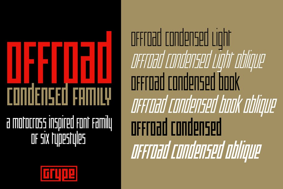 Offroad Condensed Family