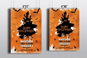 Halloween Party Flyer Template-V395