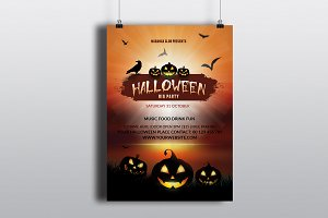 Halloween Party Flyer Template-V396