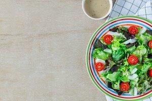 Cooking salad.