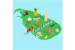 Sri Lanka map concept