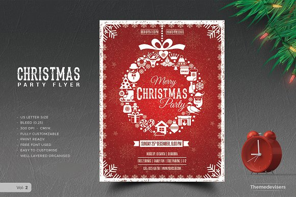 christmas flyer flyer templates creative market