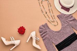 Fashion Woman Stylish Autumn Outfit