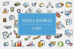 Doodle Business Icon and Clipart