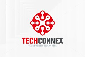 Tech Connex Logo Template