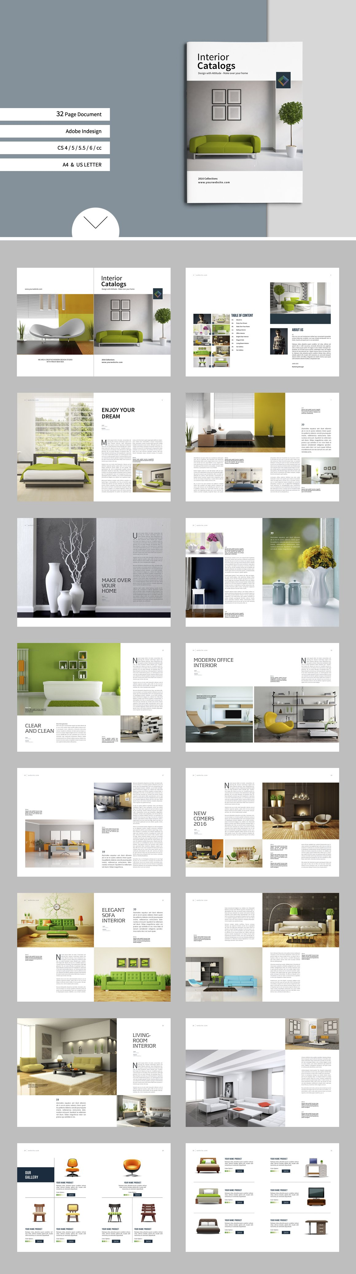 Catalogs brochure interior vol 8 brochure templates for Indesign interior