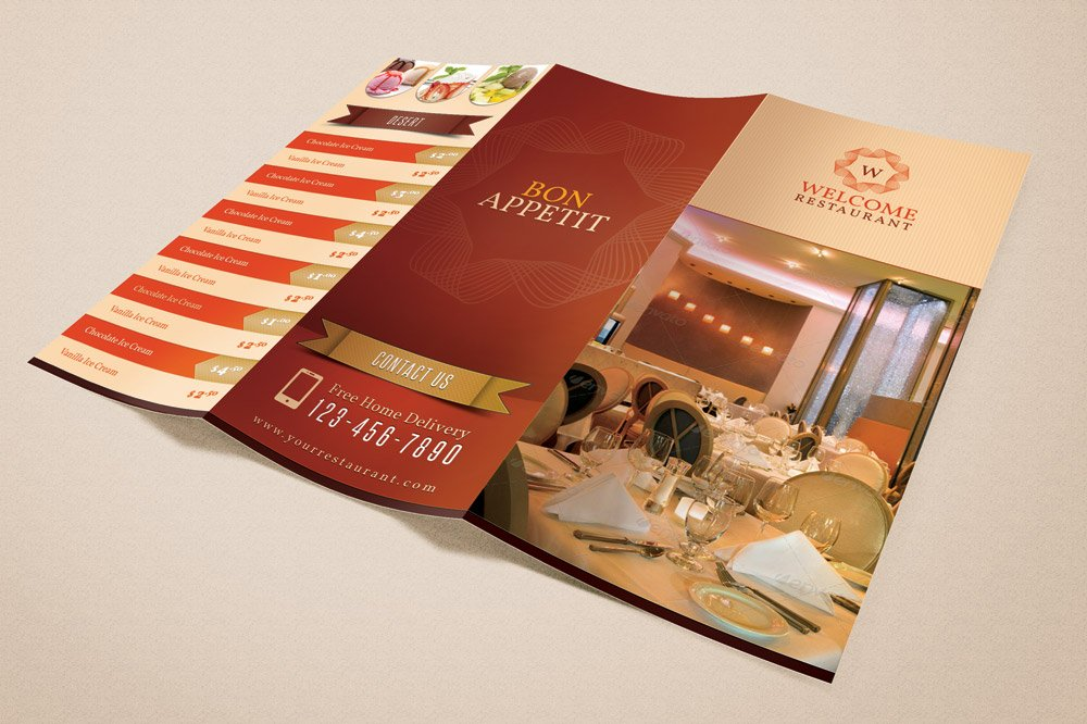 Welcome Restaurant Menu Card Pack Brochure Templates Creative Market