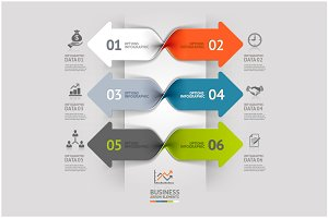 Business Arrow Spiral Infographics