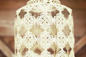 White vintage lace lantern
