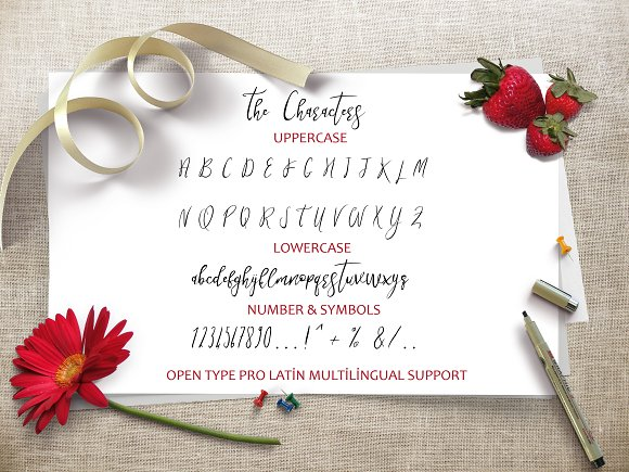 Strawberry in Script Fonts - product preview 5