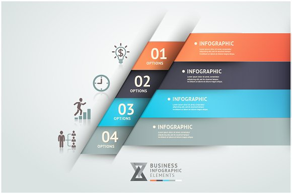 Infographics Origami Template Website Templates Creative Market