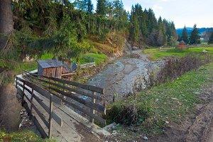 Autumn mountain river