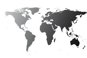 World map black shiny