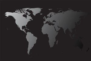 World map black shadow