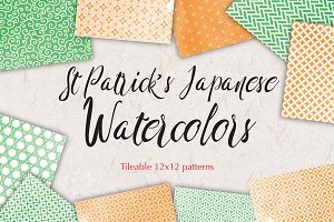St Patricks Pattern Watercolor Paper