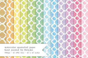 Quatrefoil Watercolor Paper
