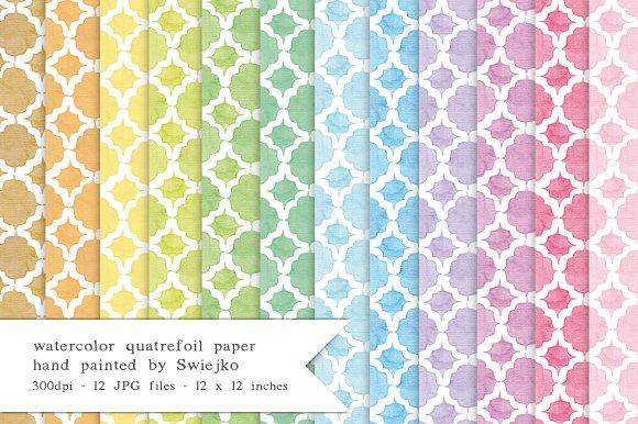 Quatrefoil Watercolor Paper