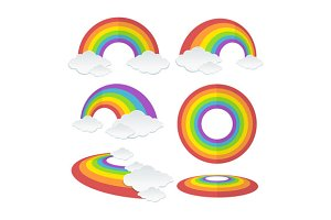 Rainbow Set. Vector