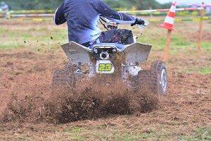 Quad motorbike.