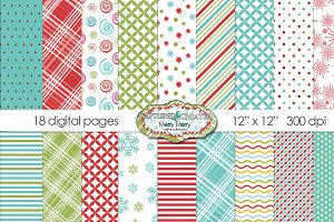 Merry-Merry Christmas Digital Paper