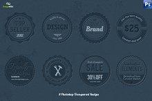 8 Transparent Photoshop Badges