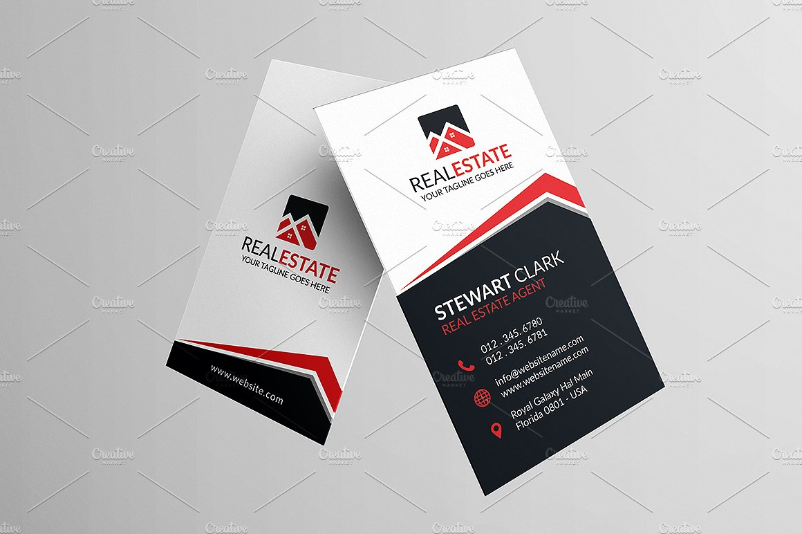 Classic Real Estate Business Card ~ Business Card Templates ...